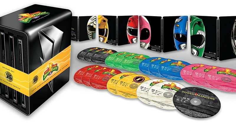 BLU-RAY 'Mighty Morphin Power Rangers' The Complete Series Blu-ray Steelbook Coming August 7th